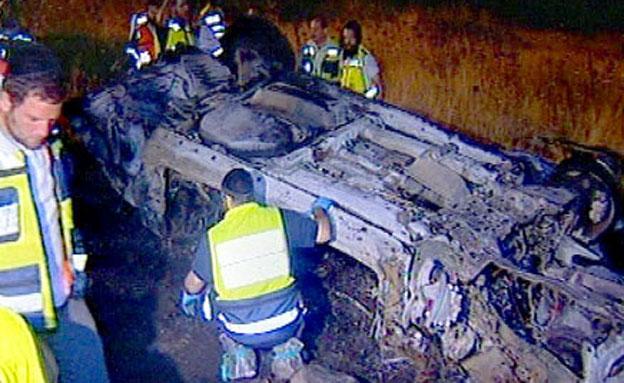 זירת התאונה, ארכיון (צילום: חדשות 2)
