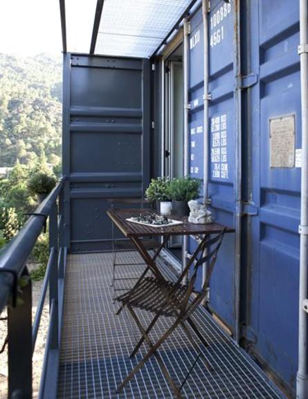 קונטיינרים חדש, בית אינפינניסקי  מרפסת גובה, צילום (צילום: Pablo Sarabia)