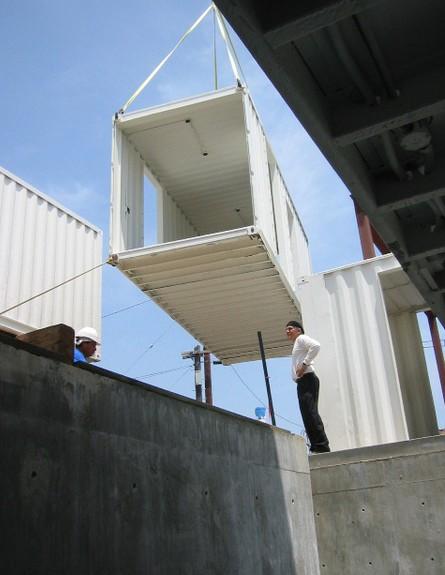 קונטיינרים חדש, בית החוף ברדונדו  בנייהגובה, צילום (צילום: DeMaria Design Assoc)
