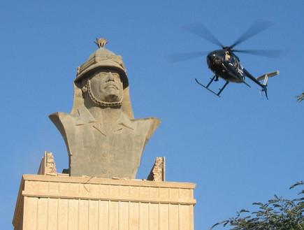 מסוק של בלאקווטר מעל הארמון בבגדד