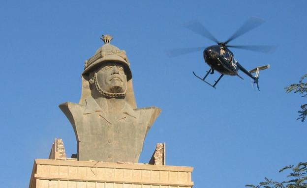 מסוק של בלאקווטר מעל הארמון בבגדד (צילום: JamaesDale10)