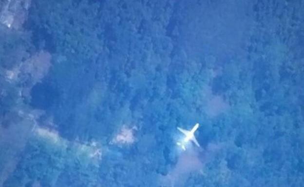 החיפוש אחר המטוס המלזי, תמונה שמצא סטודנט מטיוואן (צילום: twitter)