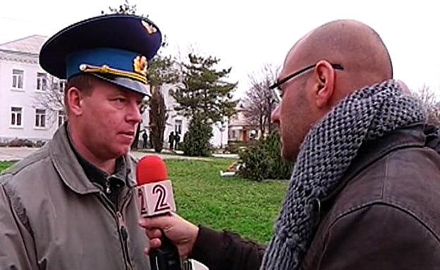 צפו בראיון של המפקד האוקראיני לפני שנעלם (צילום: חדשות 2)