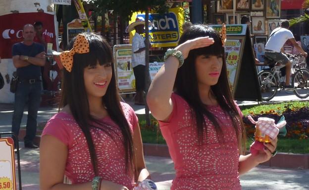 התאומות מלול (צילום:  שמעון איפרגן   )