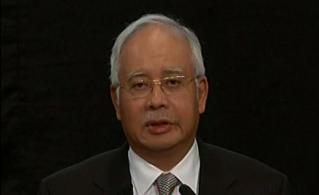 ראש ממשלת מלזיה בעת ההודעה (צילום: רויטרס)