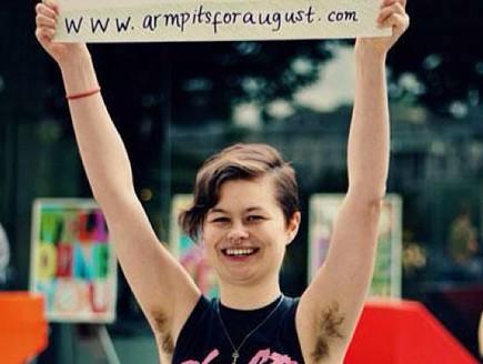שיער גוף נשי (צילום: מתוך אינסטגרם armpits4august)
