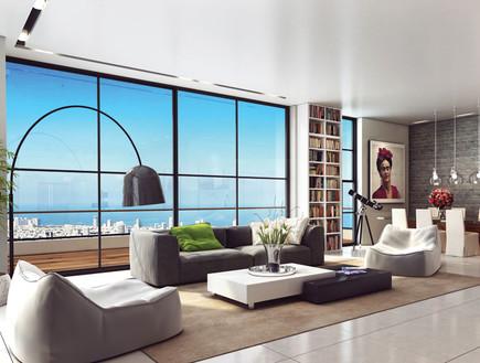 דירות יקרות - היי טאוואר של רוני מאנה (צילום: הדמייה: באדיבות HI Tower)