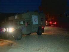 """רכב הצלה של צה""""ל בגבול הצפון (צילום: חדשות 2)"""