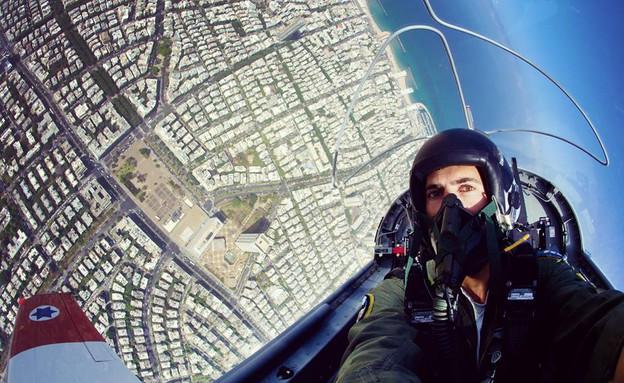 טייס ישראלי בסלפי (צילום: חיל האויר)