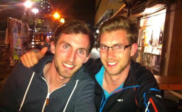 דומיניק וג'ונתן, תיירים (צילום: לימור בן-רומנו)