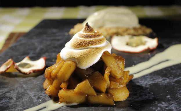 פאי תפוחים עם גלידת וניל של נוף עתמאנה איסמעיל (צילום: דניאל בר און)