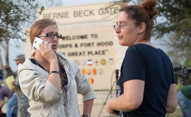 זירת אירוע הירי (צילום: AP)