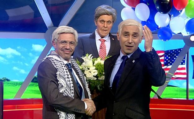 נתניהו ואבו מאזן חותמים על הסכם אין-שלום (תמונת AVI: mako)