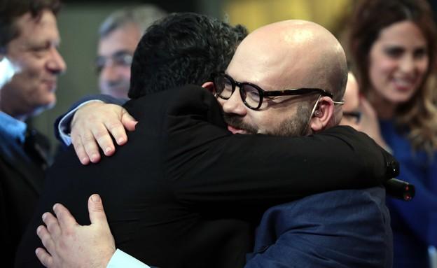 רושפלד וחיים כהן: מרגישים שגם הם זכו (צילום: עודד קרני)