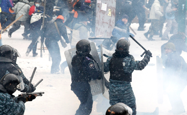 הפגנות אלימות באוקראינה (צילום: רויטרס)