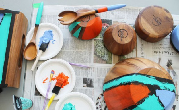 מתנה, עשו זאת, כלים צבועים, צילום BRIT+CO (צילום: BRIT+CO)