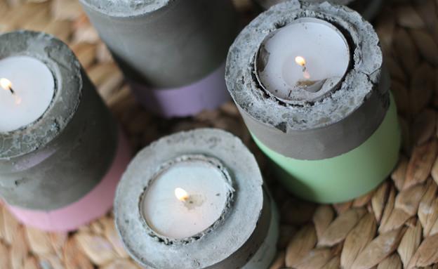 מתנה, עשו זאת, נרות בטון, צילום לירון גונן (צילום: לירון גונן)