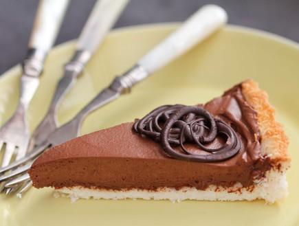 טארט קוקוס ושוקולד לפסח - פרוסה