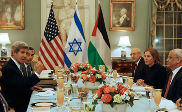 שיחות, הסכם, ציפי לבני, סאיב עריקאת, גון קרי (צילום: חדשות 2)
