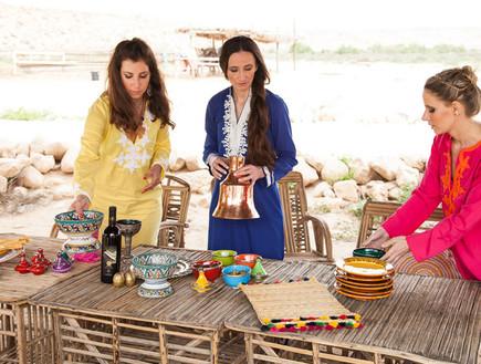 הפקה במדבר, שולחן חג סידור (צילום: אודי גורן)