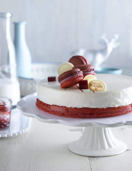 Roladin-רולדין פסח 2014 עוגת מקרון פינק פרינסס ציל (צילום: רונן מנגן)