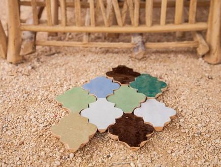 הפקה במדבר, דוגמאות ריצוף ויה ארקדיה (צילום: אודי גורן)