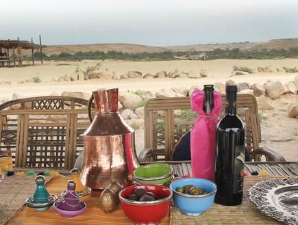 הפקה במדבר, שולחן חג כללי, צילום איקו פרנקו (צילום: איקו פרנקו)