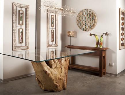 חנויות ייבוא, פאו ברזיל שולחן זכוכית