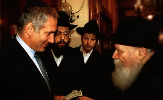 נתניהו נפגש עם הרב מילובביץ' (צילום: חדשות 2)