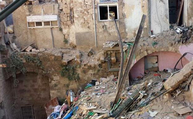 אישום: הציתו וגרמו לקריסת הבניין (צילום: חגי הקר, חדשות 2)