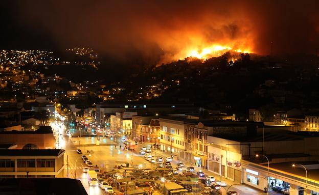 שריפות, צ'ילה (צילום: חדשות 2)
