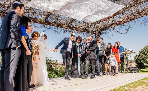 החתונה של ג'וליה ואלעד (צילום: חיים אפריאט)