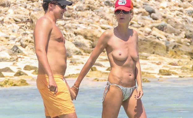 היידי קלום טופלס עם החבר (צילום: Splashnews)