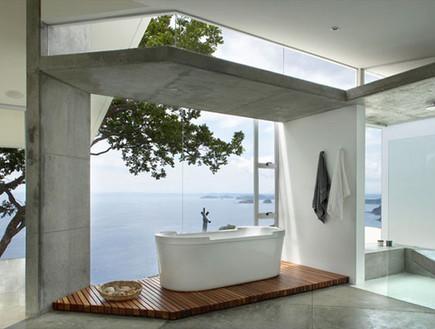 2-אמבטיות עם נוף, משחק_גיאומטרי_בחומרים_שונים.www. (צילום: www.canasarquitectos.com)