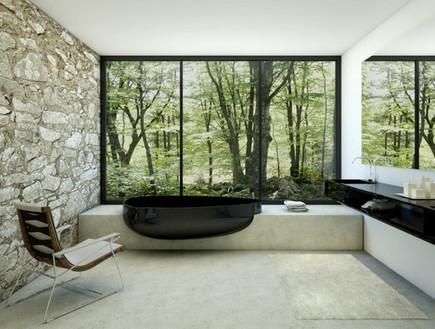 3-אמבטיות עם נוף, עיצוב_בסגנון_מחוספס_בהשראת_הטבע. (צילום: www.danelonmeron.com)