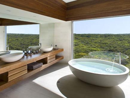 5-אמבטיות עם נוף, מודרני_וחמים.southernoceanlodge. (צילום: southernoceanlodge.com.au)