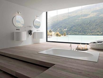 15-אמבטיות עם נוף, רחצה_במפלס_נפרד.www.rexadesign. (צילום: www.rexadesign.it)