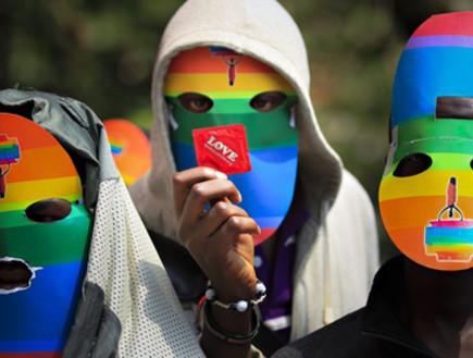 הפגנה באוגנדה (צילום: Dai Kurokawa)