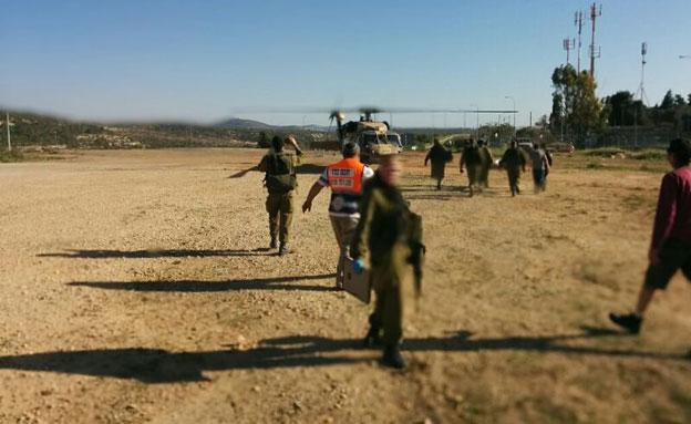 """הצליח להזעיק עזרה לפני שהתמוטט (צילום: מד""""א ירושלים)"""