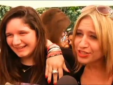 אמא ובת מעריצות של וואן דיירקשן (צילום: חדשות 2)