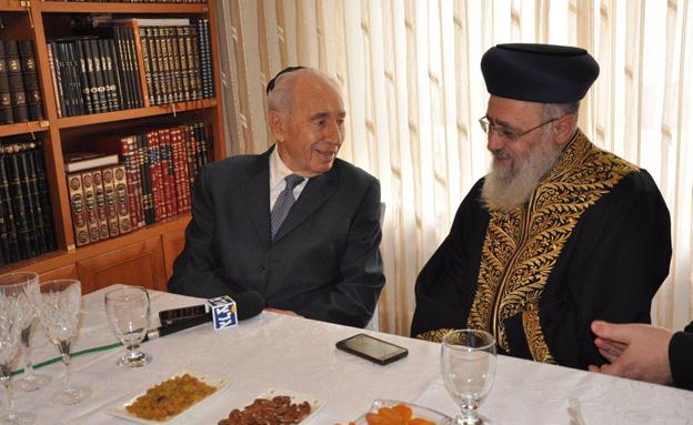 צפו: כשהנשיא פגש את הרב הראשי (צילום: דוברות בית הנשיא)