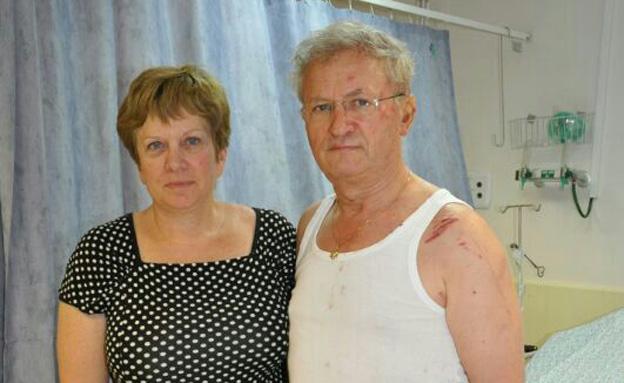 אמיצים. שמעון ושרה ברק (צילום: דוברות בית חולים העמק)