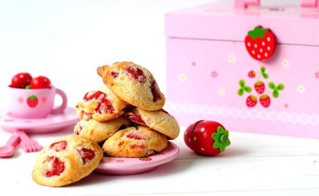 עוגיות גבינה ותותים (צילום: שרית נובק - מיס פטל, אוכל טוב)