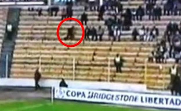 רוח רפאים בכדורגל (צילום: יוטיוב)