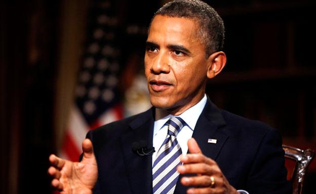 מאוכזב מההתנהלות, אובמה (צילום: AP)