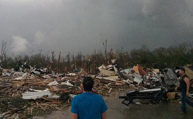 ההרס בארקנסו, הלילה (צילום: AP)
