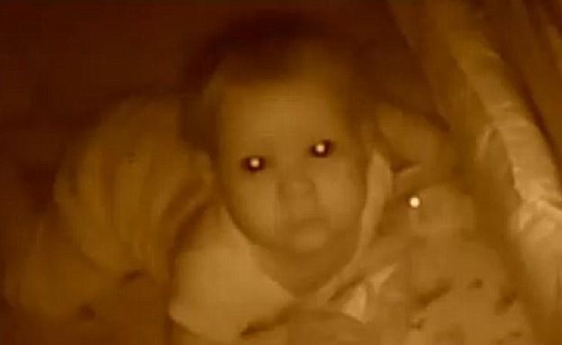 פרץ למוניטור ודיבר עם התינוקת  (צילום: Fox 19)