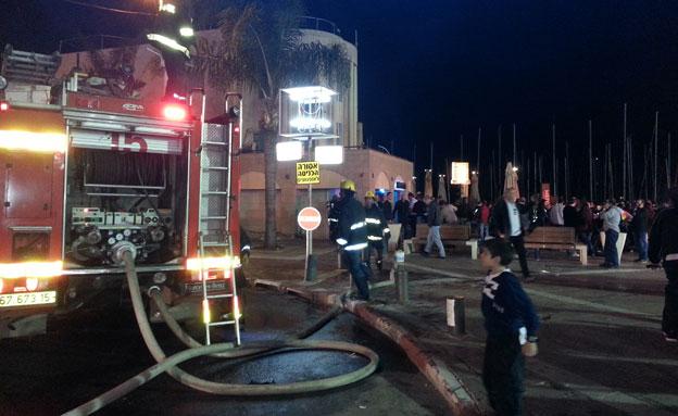 כוחות כיבוי האש בספא (צילום: עזרי עמרם)