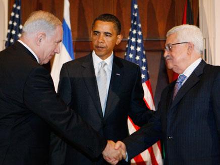 ברק אובמה, מוחמד עבאס אבו מאזן, בנימין נתניהו