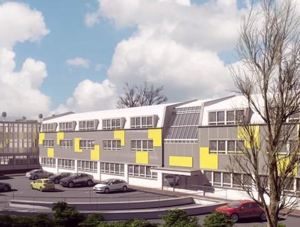 3 אביתר, הדמיה שני מפעל ומשרדים באזור תעשיה בלונדו